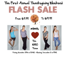 First Annual Thanksgiving Weekend Flash Sale